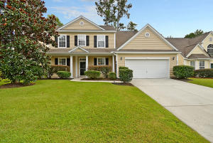 This inviting two-story home is nestled on a quiet street in Wescott Plantation. It's also located in the desirable Dorchester II School District. You'll notice great curb-appeal with attractive updated landscaping. As you enter, you'll be greeted by gleaming wood floors, smooth ceilings, and a spacious open floor plan, with an abundance of natural light and a great flow for entertaining and everyday living. Located off of the foyer is a flex room, which could be used as a formal living room or a home office. The formal dining room, with crown molding and wainscoting, will be perfect for dinners with family and friends. A butler pantry connects the dining room to the eat-in kitchen, which boasts recessed lighting, stainless steel appliances (including a gas range), granite countertops, a large breakfast bar, ample cabinet and counter space, a pantry for additional storage, and a breakfast nook overlooking the backyard. Refrigerator to convey, with an acceptable offer and as part of the sales contract. Enjoy cool evenings in front of the cozy gas fireplace in the family room, where you'll also find soaring vaulted ceilings. The spacious first-floor master bedroom features a tray ceiling, a walk-in closet, and a private en suite, with a dual vanity, a deep-soaking tub, and a separate shower. Upstairs you'll find the rest of the bedrooms which are also spacious in size. The large bonus room over the garage, with dual closets and a full bathroom could be used as a 5th bedroom or it would also make an excellent game room or entertainment room. The third floor attic gives you tons of storage space and it could easily be converted into a bonus room or additional bedroom. The covered patio and large privacy-fenced backyard will be perfect for grilling out, entertaining, or watching the kids play. You'll appreciate neighborhood amenities, including a community pool, a covered pavilion, a playground, and walking trails. Conveniently located near shopping and dining. Come see 