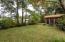 Spacious & private back yard.