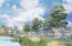 Rendering of beautifully landscaped bike paths