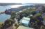 aerial view of home overlooking intracoastal waterway