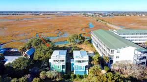 aerial view of Mariners Cay with expansive marsh and water views