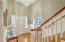 Red Oak hardwood flooring, hand crafted stair pickets & railing. The trim in this home is amazing.