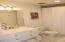 New Bathroom vanity and floor tile