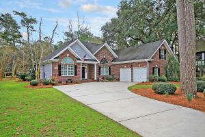 This inviting brick home sits on a large 0.53-acre golf course-front lot, on the 9th tee, in the desirable Legend Oaks Plantation. The home is set back from the road, with a long driveway. You'll notice great curb appeal, with extensive professional landscaping (including a Grand Oak, Japanese Red Maples, and Cypress trees) and landscape lighting. As you enter, you're greeted by gleaming hardwood floors, two-piece crown molding, and a spacious open floor plan, with a great flow for entertaining and everyday living. You'll also find 13-ft ceilings and plantation shutters, throughout. The eat-in kitchen boasts recessed lighting, new stainless steel appliances, Corian countertops, a breakfast bar, and a large bay window, overlooking the golf course. Refrigerator to convey, with an acceptable offer and as part of the sales contract. Enjoy cool evenings in front of the cozy gas fireplace, in the family room. You'll find newer carpet in all of the bedrooms (installed in 2017). The spacious master bedroom features a tray ceiling, a walk-in closet, and an updated en suite, with a heated floor, granite countertop, a large walk-in porcelain tile shower, and a storage area. The guest bedrooms are also spacious in size. The bonus room over the garage, with a half bathroom and a closet, may be used as a 4th bedroom or it would also make an excellent game room or entertainment room. The screened-in back porch and large backyard will be perfect for grilling out, entertaining, or just relaxing, while enjoying a beautiful view of the golf course. Other features of the home, include an alarm system, a structured cable system, and a central vacuum. You'll appreciate all of the amenities that Legend Oaks Plantation has to offer, including a community pool, a clubhouse, tennis courts, and a golf course. Located in the desirable Dorchester II School District, within walking distance to Beech Hill Elementary. Come see your new home, today! **Ring doorbell does NOT convey.**