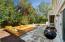 New grilling patio, patio, garden area.