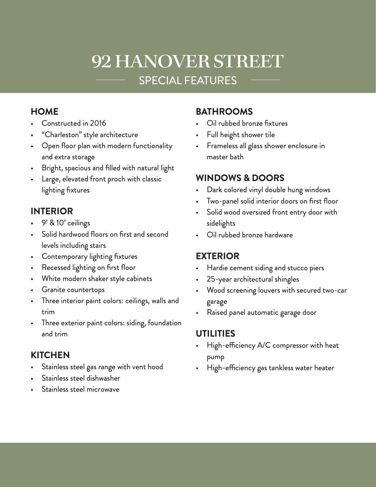 92 Hanover Street Charleston, SC 29403