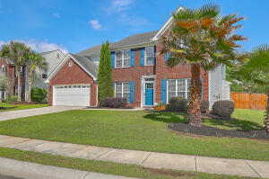 Relax and entertain in this spacious 5-br., 3-ba. home in Wescott Plantation! Dorchester II schools! Grand two-story foyer, curved archways, formal dining and living rooms. Laminate hardwood floors throughout the first floor. A wide hallway leads to an open-concept floor plan, with an eat-in kitchen and family room with gas log fireplace. The kitchen has granite counters, S/S appliances, tile backsplash and new dishwasher. Sliding glass doors open to a screened porch and covered patio that provide great space to relax and entertain, with a large fenced yard beyond. First floor guest bedroom, full bath, laundry room and attached 2-car garage. Upstairs are 3 well-sized bedrooms, a full bath and the master suite with a tray ceiling, ceiling fan, large walk-in closet and ensuite with... ... garden tub, separate shower, private water closet, dual sink vanity, and linen closet. An arched doorway within the master bedroom leads into an adjoining sitting room that is perfect for a private office, study or reading room. Water heater (2020) and one AC unit (2018) recently replaced. Enjoy Wescott's convenient location! The Golf Club at Wescott Plantation offers daily rates and memberships. Nearby Wescott Park has 3 baseball fields, 2 children's playgrounds, a sand volleyball court, and off-leash dog park. Quick access to Charleston International Airport, Boeing, Bosch, Mercedes Benz and Joint Base Charleston, as well as schools, shops, restaurants, recreational activities, and places of worship. Enjoy a less than 10-minute drive to Ashley River WATER ACCESS at the Howard Bridgman River Access!