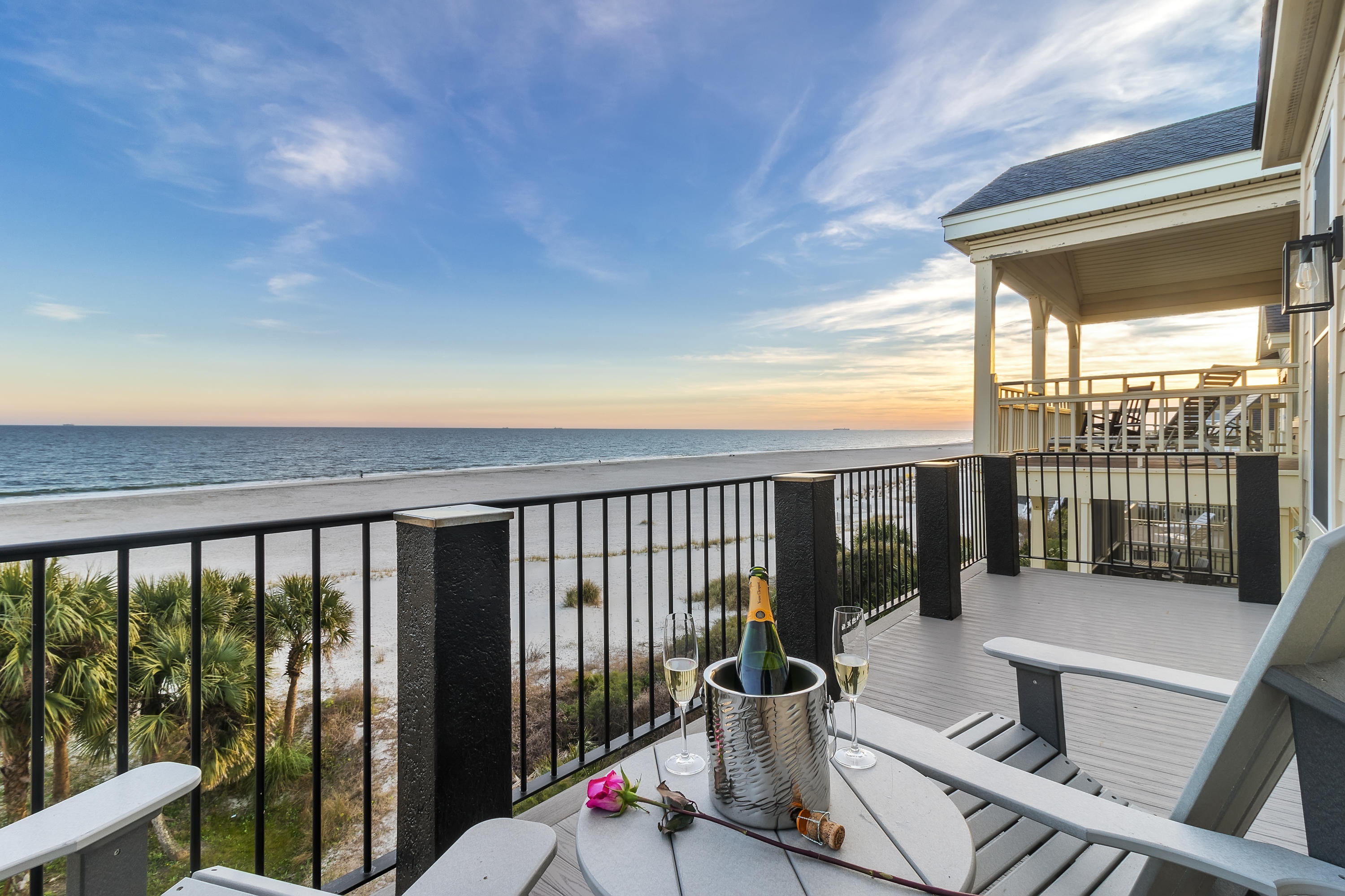 OCEANFRONT!, OCEANFRONT! OCEANFRONT! TURN KEY, END UNIT HOME with Rental Revenue Opportunity. This is the largest oceanfront home in Grand Pavilion located in the heart of Wild Dunes.There is an abundance of outdoor space to enjoy breathtaking views from every level.  As you step through the front door you are greeted with stunning views of the Atlantic Ocean. There is plenty of indoor open space to entertain and great memories with family and friends in the years to come or use as a vacation home and enjoy the rental income. Exterior recently painted, new decking, rails, roof, and new windows.  New interior upgrades in the kitchen, stainless steel appliances, countertops, lighting, and partial new furnishing throughout the entire property.  Currently established with a well known Vacation Rental company on the island. Sold Furnished. Steps away from Grand Pavilion pools, boardwalk, shops, and Wild Dunes amenities. Seller is related to agent.
