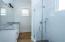 Downstairs dual master bath