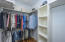 UPSTAIR master closet