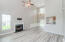 Take in the vaulted ceilings, fresh paint, and luxury flooring