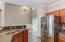 Walk right into the dining space from the kitchen
