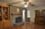 Dining Room or Living Room with Wood Burning Fireplace