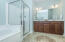 Master bath. Options available for 5' shower