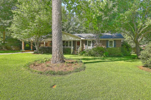 Brick ranch on large lot in quiet neighborhood minutes from downtown Summerville. Multiple access points into neighborhood. Wood floors throughout most of house. Private back yard.2 storage sheds convey. New roof, gas water heaters, H&A and vinyl windows. DD2 schools.