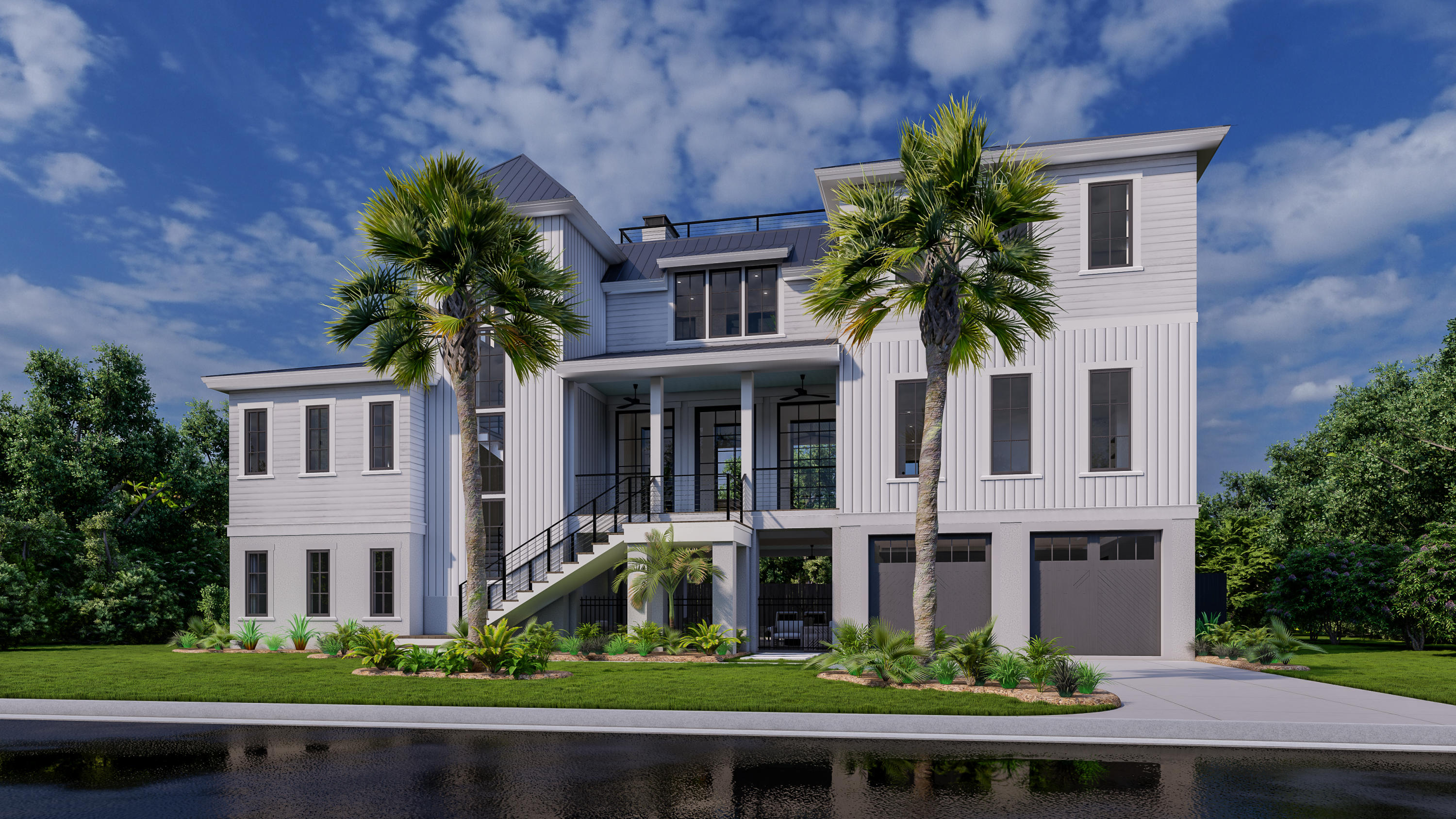 Welcome to 622 Carolina Blvd, your perfectly situated island retreat, just 2 short blocks to the beach! Custom built island home w/pool estimated to be completed June 2022. Come live the island life & relax to the sounds of the ocean on loggia by the fire or gaze at the stars from your rooftop deck. Modern floor plan features open common spaces while offering private retreats when it's time to unwind. Hosting dinner parties w/ family & friends here is a breeze w/expansive kitchen + scullery & state-of-the-art culinary setup! Family room offers exceptional gathering space w/wall of glass doors that lead to porch. Guest suite on main level & 4 BR/3BA + sep den upstairs offers the perfect layout for hosting family & friends. 10' ceilings, elevator to all floors, 2 car garage + golf cart door. Beachy modern vibe with a neutral coastal color palette, pool, rooftop deck & superb outdoor living space create a sense of relaxation for true island living! Enjoy a turn key set of plans with each and every fine detail pre-selected by top design firm to make your transition to the beach easy breezy! Other fine finishes that translate to sophisticated yet relaxed, low maintenance coastal lifestyle include metal roof, cement plank siding and wood flooring throughout. Home also features an outdoor shower to wash the sand away after a sunny day at the beach! Grappa porch flooring is yet another fine detail which withstands the salt, sun & sand with low maintenance and long term durability. Location cannot be beat situated walking distance to the beach yet a short bike ride to fabulous island restaurants. This prime location is also less than 10 miles to Historic Downtown Charleston where you can enjoy fine dining & shopping, arts & entertainment in a world class city lined with cobblestone streets, antebellum homes & horse drawn carriages! You can truly have it all right here at 622 Carolina Boulevard!