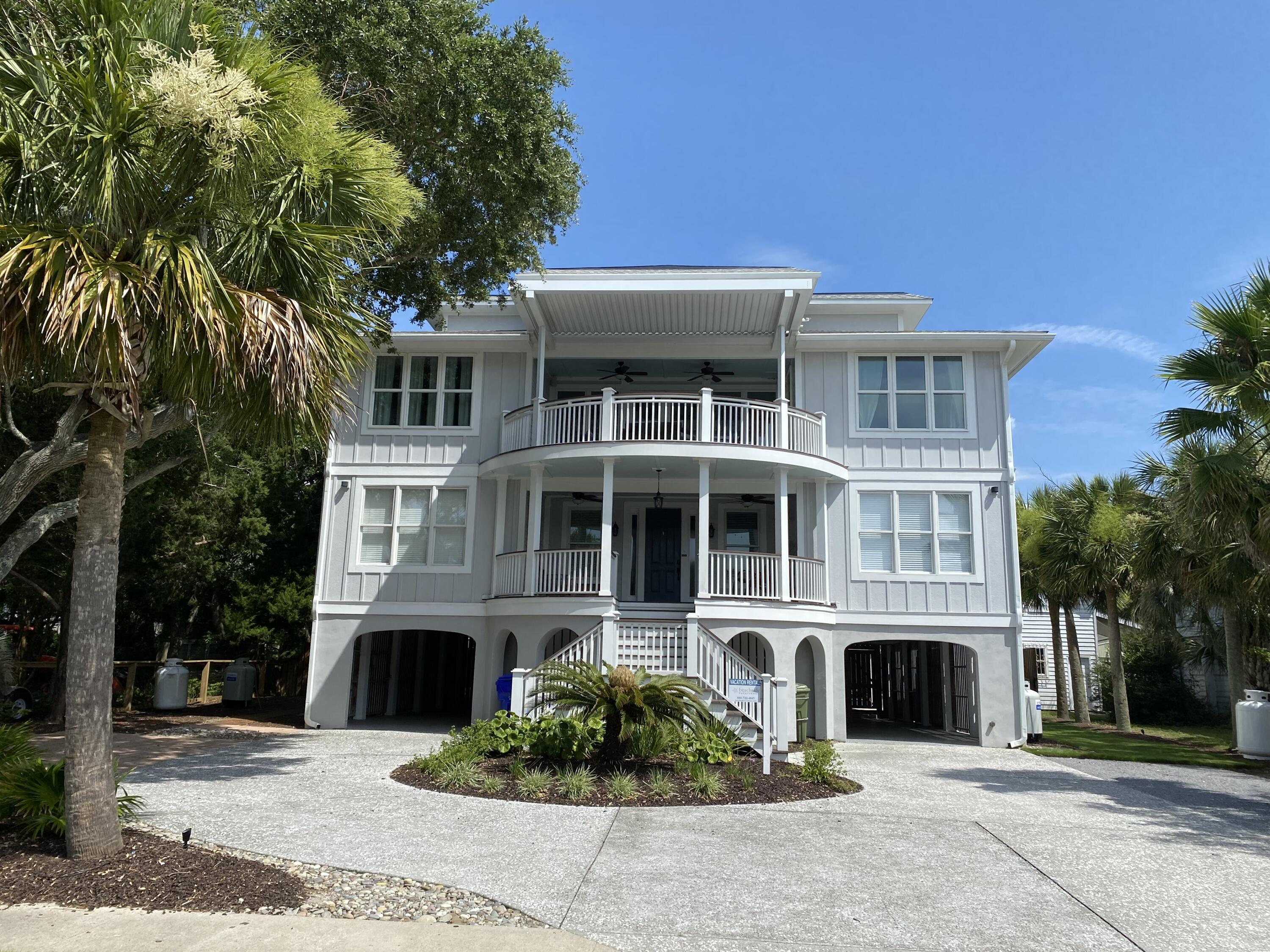 3705 Palm Blvd was completely renovated in 2018 with great Atlantic Ocean views and steps to the beach.  Home features ocean views from multiple decks, a brand-new private swimming pool with built in hot tub, game room, two living rooms and a brand-new kitchen featuring many top of line appliances.  Here are just a few highlights of the renovations: Removal of the swimming pool with the installation of a new custom design pool from local pool architect with hot tub feature. Expanded pool decking.  All new exterior decking featuring outstanding ocean views from two of the front decks. Renovation of exterior finishes including all new paint. Reconstructed kitchen with gourmet chef appliances such as double refrigerator, six burner gas stove, two dishwashers, ice maker. New modern fireplace. Refinished flooring throughout the home. Total renovation of all bathrooms. All new paint throughout the home. Replacement of light fixtures. Ship lap highlights in several areas of the home. Outdoor fire pit with corn hole set. New upper deck grilling station adjacent to upper level kitchen. Come take a look, you will not be disappointed!