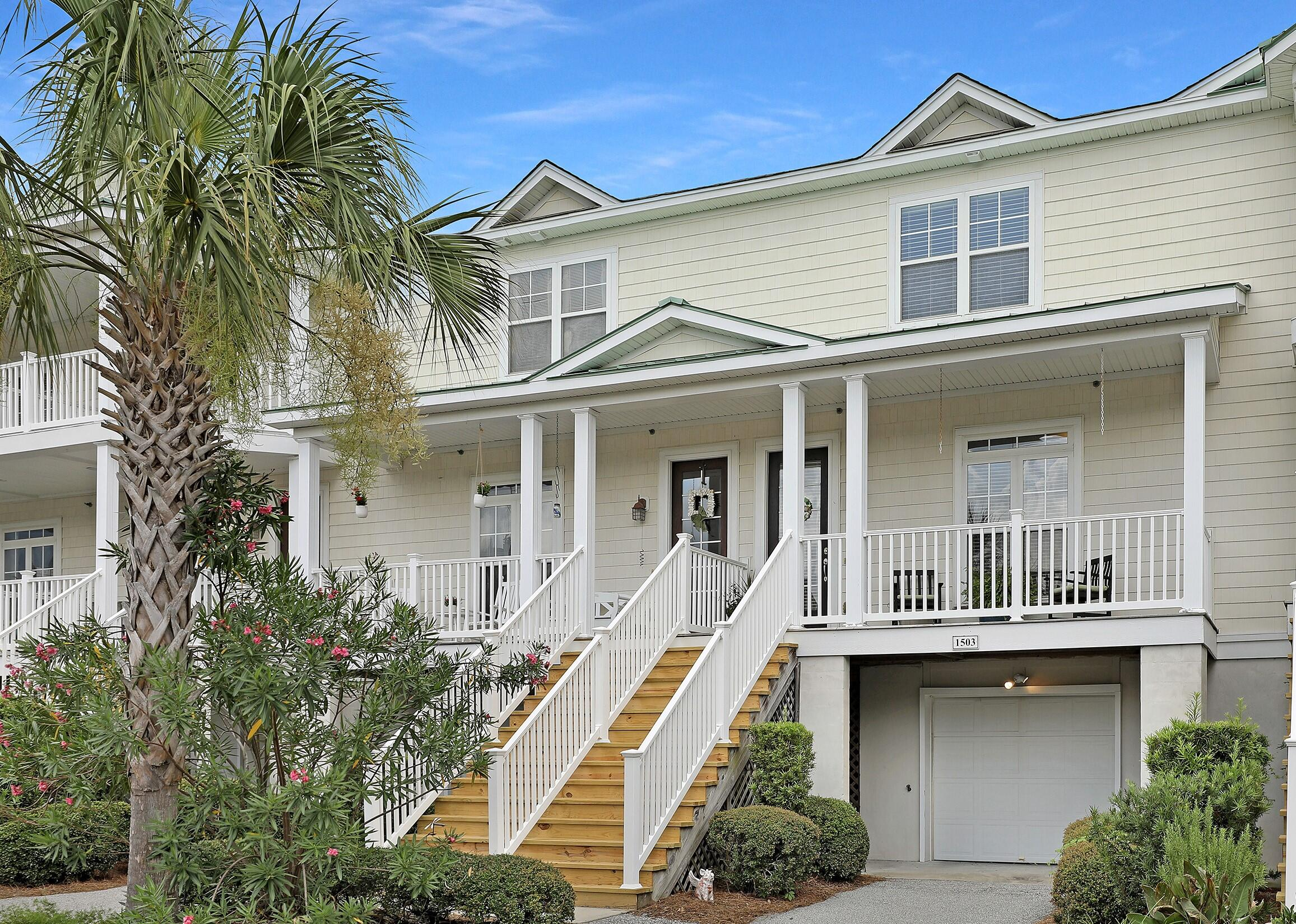 This beautiful 2 bedroom, 2 1/2 bathroom townhome is in The Retreat in Charleston National. Tucked away between holes 5 and 6 on a pond with a fountain. Huge tandem garage at ground level runs the entire length of the home. Elevator shaft is built in the floor plan should you wish to add one some day. The first floor and staircase have real hardwood floors. The kitchen is updated with granite countertops  and stainless appliances with a butler's pantry that connects it to the dining room. The main living area is bright and open and a large screened porch offers plenty of room and tranquil, relaxing views. Upstairs the guest bedroom has it's own full bathroom. The master suite is spacious and the en suite has a soaker tub, dual vanities, a shower and a large walk-in closet.