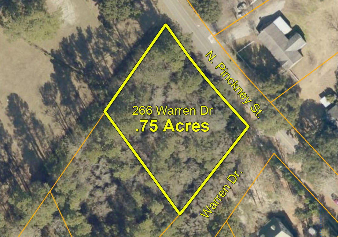 McCLELLANVILLE - Village Estates subdivision  - Wooded corner lot on Pinckney and Warren Drive. Great 3/4 acre building site with lots of space for your new home. Public boat launch only 5 minutes away with quick access to the beaches and waterways of the Cape Romain Wildlife Refuge and Bulls Bay. Golf cart to farmers market, shops, restaurants, and other town amenities. Enjoy the natural beauty and wildlife that surrounds this charming coastal village. Come experience the laid-back lifestyle of this quaint little town!