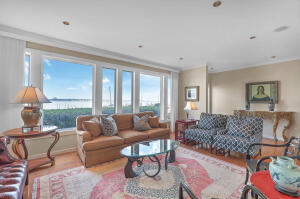 Direct views of Charleston Harbor, Ravenel Bridge, & the Yorktown