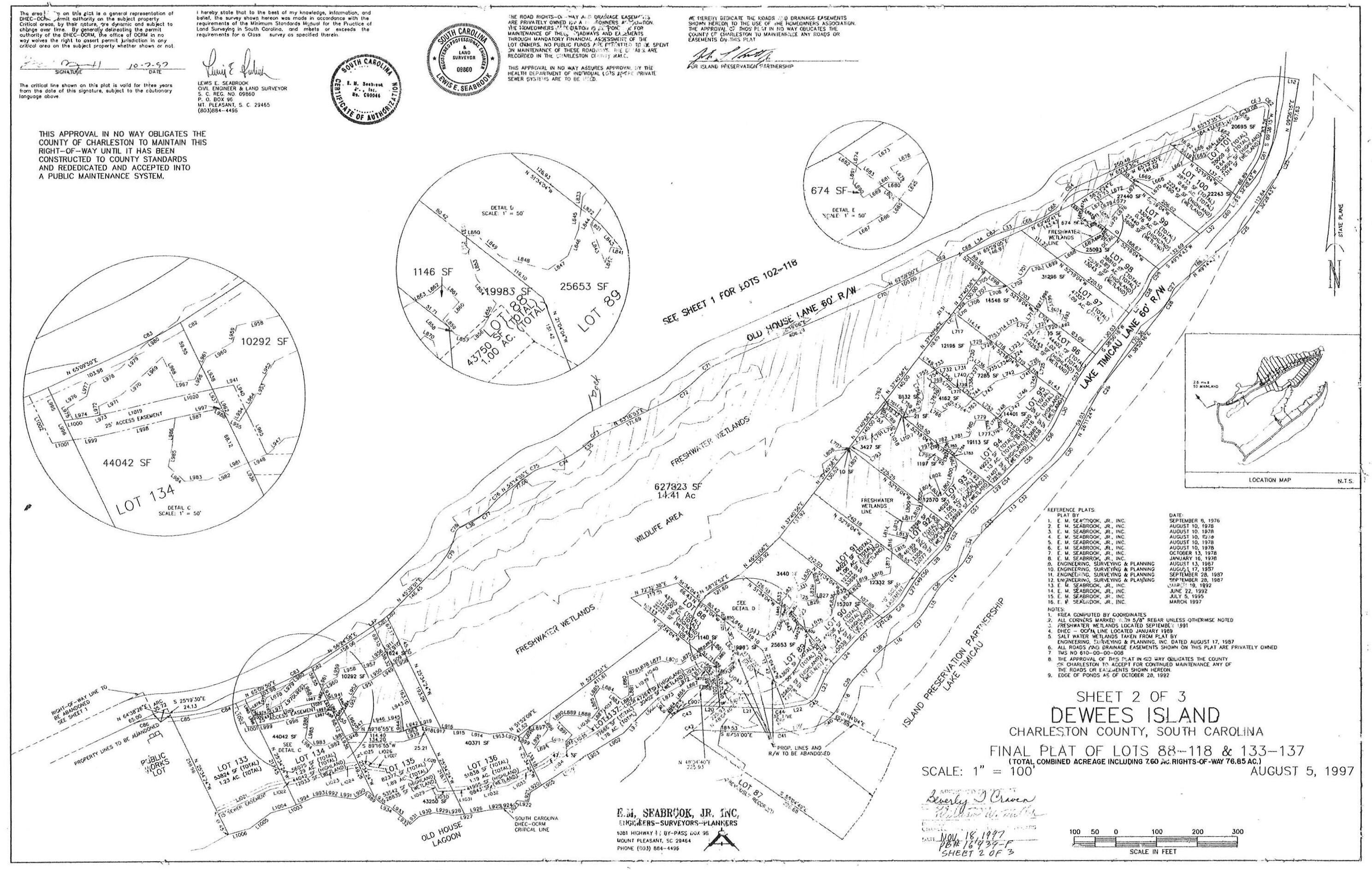 211 Lake Timcau Lane UNIT Lot 97 Dewees Island, SC 29451