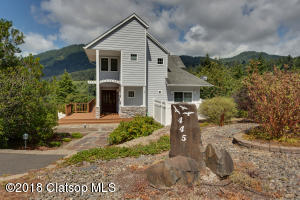 Landscaped Front Elevation with Mountain Views