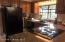 Kitchen - Granite Counters, Black Appliances, Garden Window