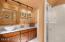Tastefully updated hall bath on lower level.