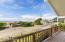 Big covered view deck; Trex decking with Ice Brazilian Walnut hand rails.