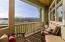 Private balcony with pond views.