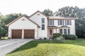 Vinyl exterior, concrete drive, coach lights, front storm door, new siding~2008, new roof 06/2017, new front windows~2008, interior painted 2017, wooded lot, first floor Den, first floor Laundry Room, Screened Porch, new ceramic tile flooring in Master Bath~2004, new heat pump~2005, new gas water heater~2016, gas line rough-in for grill