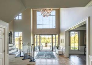 Entry featuring Hope's custom steel windows.