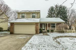 Brick and aluminum exterior, concrete drive, coach lights, window shutters, front covered porch, keyless entry, front storm door, new composite deck ~2010/2012, ADT security system, fenced yard, new garage door opener ~2016, all new carpet - 12/2017, interior painted - 12/2017