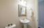 Pedestal sink. Approx. Size 5'x5'