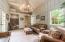 Rustic with antler chandelier, tile flooring, 1/2 bath.