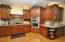 Custom cabinets and granite counter tops.