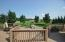 View of the Patio and expansive lawn beyond.