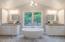 Take relaxing bath in this beautiful freestanding tub.