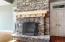 Gas starter field-stone fireplace in great room