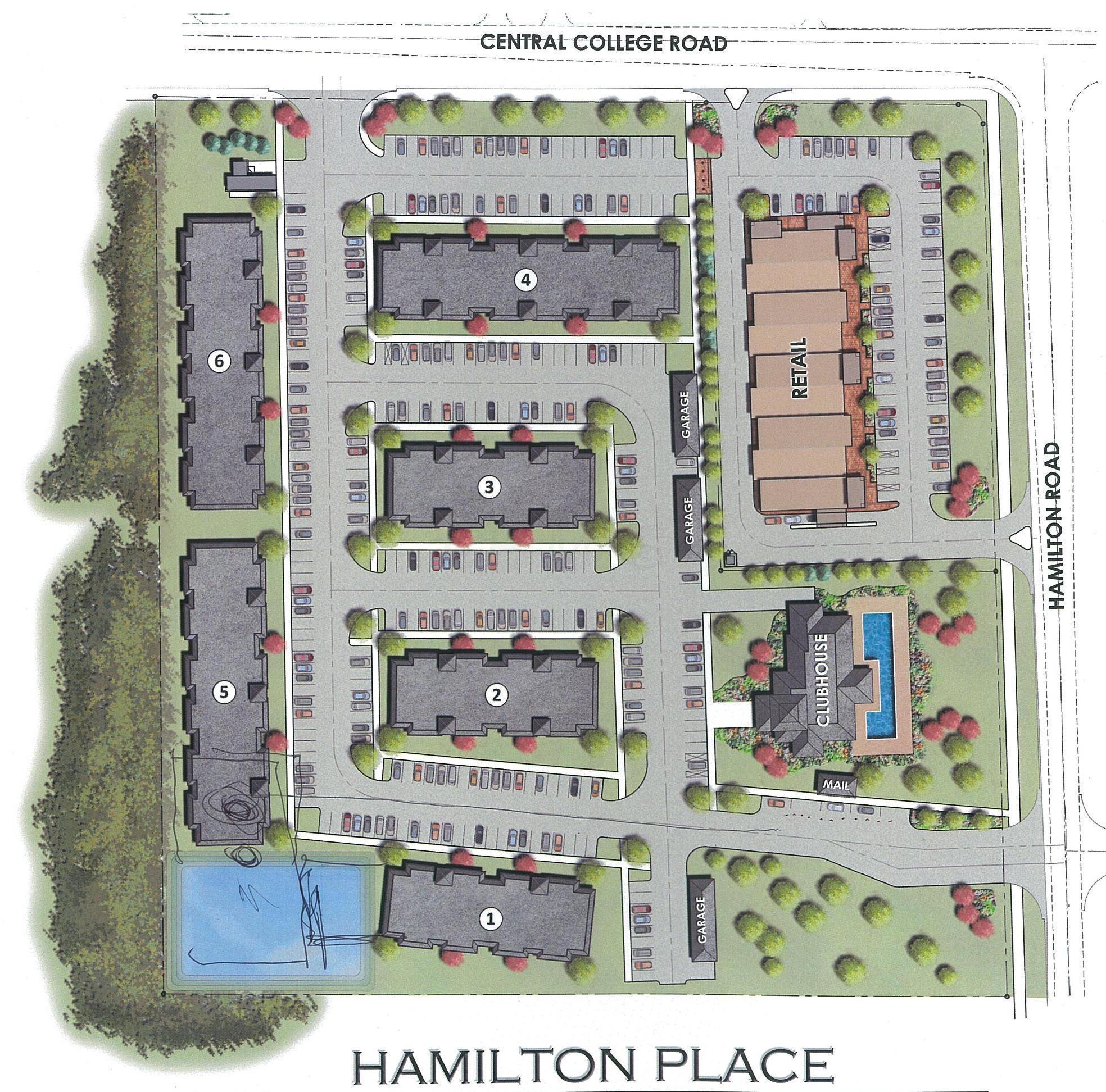 Hamilton Place Map