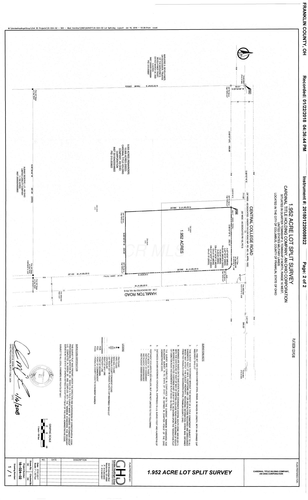 6809 Hamilton Road, Westerville, Ohio 43081, ,Land/farm,For Sale,Hamilton,218030076
