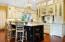 Custom Kitchen with glass doors!