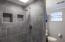 NEW tile walk-in shower!