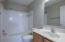 2nd floor full bath with tile surround shower/tub combo!