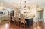 "Kitchen Views Family Room, Character Walnut 6"" Beveled Flooring"