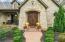 Copper Gas Lantern with Double Alderwood Flatiron Doors