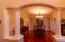 Formal Dining Room encased with columns and crown molding