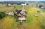 Drone View from Back of Property. Cultured Stone Accents the Exterior