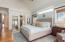 Custom Decorative Wall Ledge - Shiplap on 2 Walls - Hardwood Flooring - Ceiling Fan