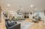 Abundance of Recessed Lights to Make it Feel Like You Are Upstairs!